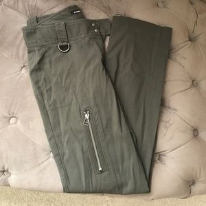 Utility olive green pants